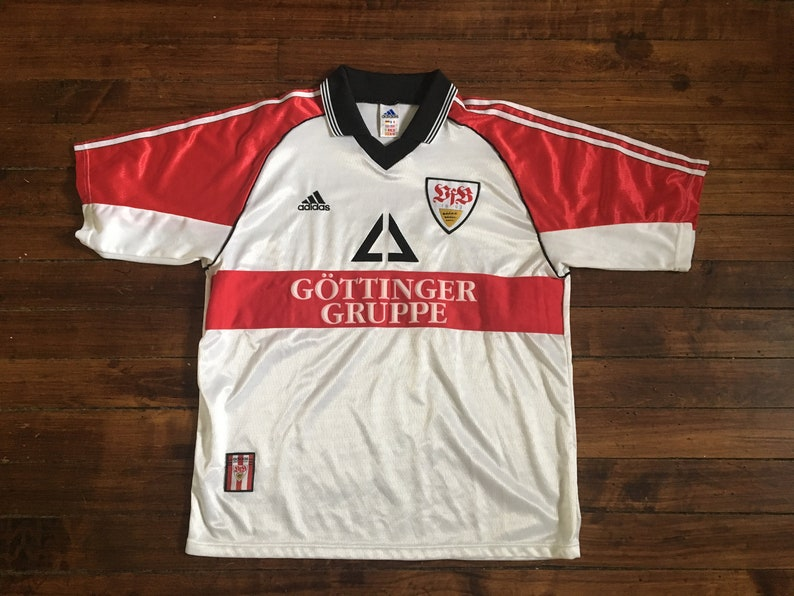 67323c1c2 VFB Stuttgart adidas football jersey vintage 1998 soccer shirt