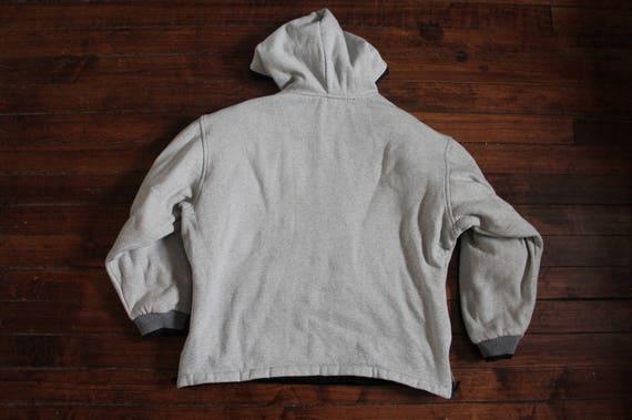 REVERSIBLE Adidas Jacke Vintage umkehrbare Kapuze 3 Streifen