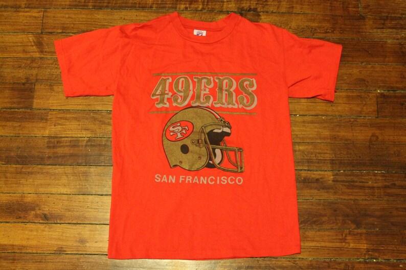 4926106f San Francisco 49ers shirt vtg NFL football graphic tee tshirt | Etsy