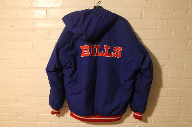 100% authentic 592da b252f Buffalo Bills Starter jacket vtg NFL football vintage full zip winter coat  Medium