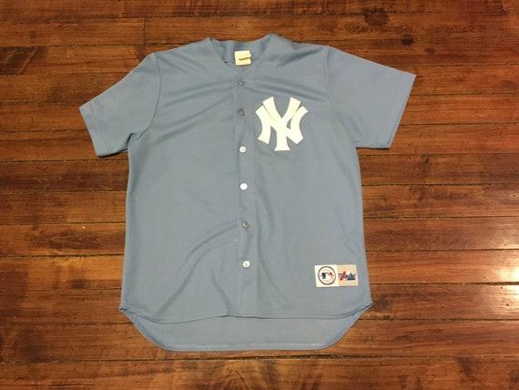 New York Yankees jersey baby blue MLB baseball blank shirt  fd5f49cf2
