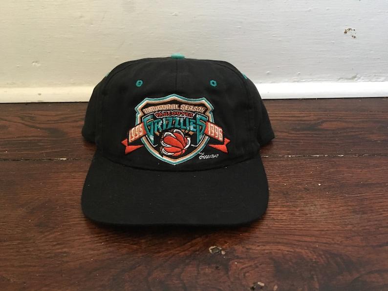 86aa51659 Vancouver Grizzlies snapback rare inaugural season 1995 - 1996 big logo the  game hat