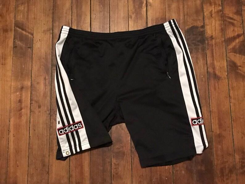 0d27a9b5e3c6d Adidas tearaway shorts vintage black tear away pants athletic | Etsy