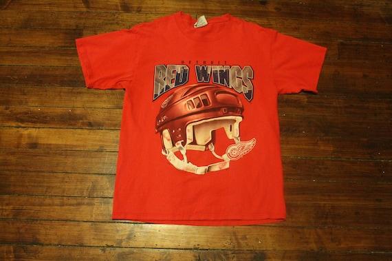 detroit red wings shirt tshirt vintage NHL hockey helmet  e737cdd28