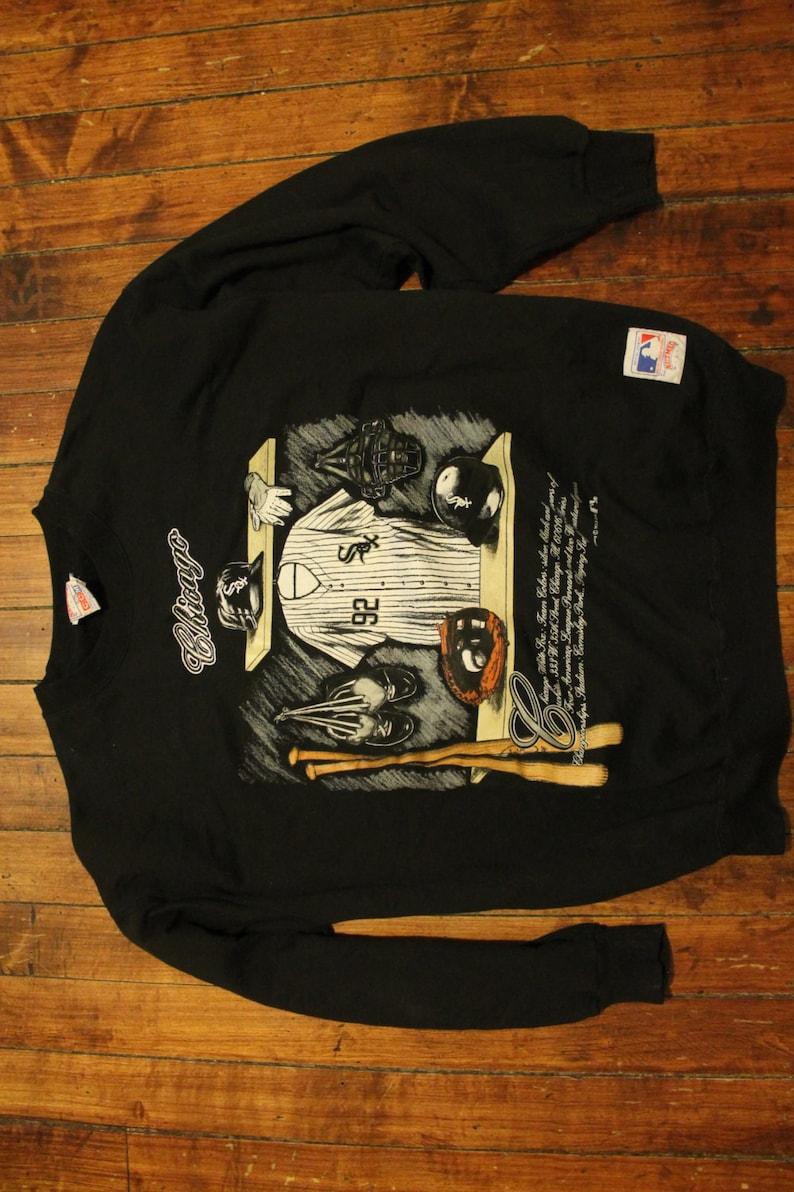 release date f2a4c a627c Chicago White Sox Crewneck sweatshirt 1991 black vintage MLB locker room  baseball sweater jumper XL