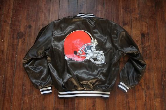 7687d3396 Cleveland Browns Satin jacket swingster NFL football Large