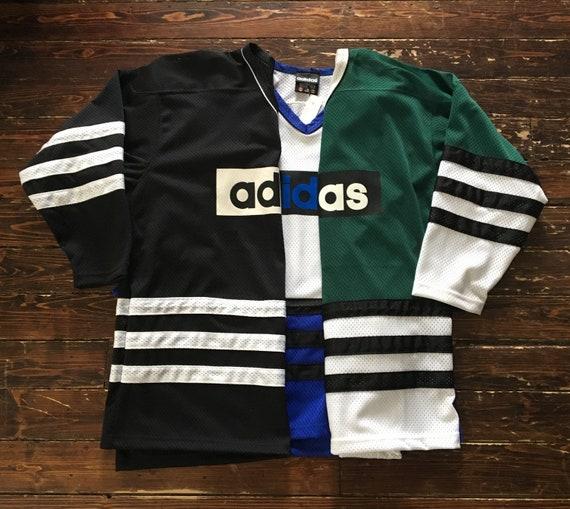 ADIDAS hockey jersey vintage NHL hockey jersey shirt hip hop  7946f23d8fb