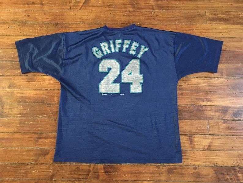 premium selection 8c83e aeecb Ken Griffey Jr jersey Seattle Mariners mesh practice jersey 1998 MLB  baseball shirt blue Large XL