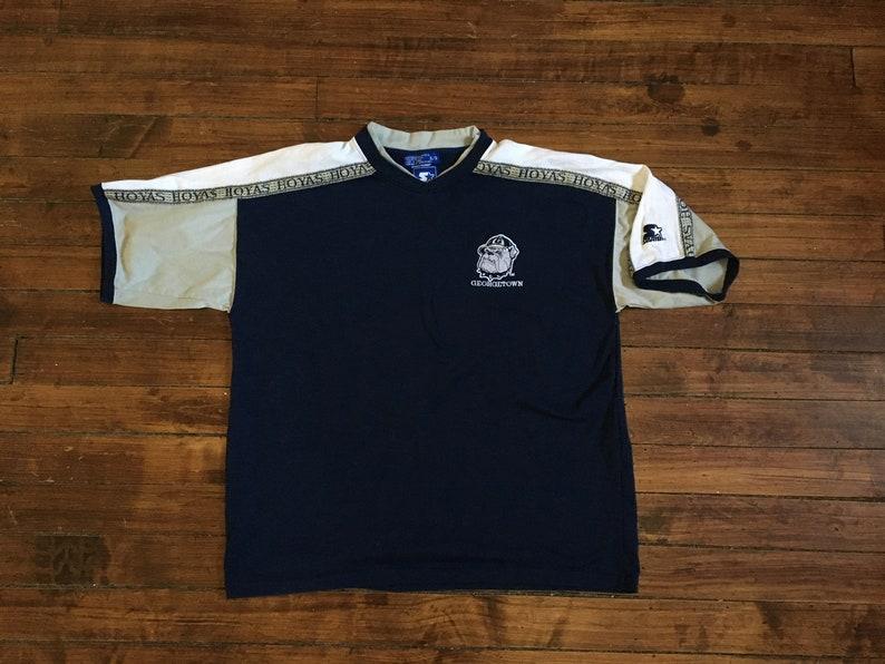 e8214844b3ac Georgetown Hoyas starter shirt stitched crest shoulder trim