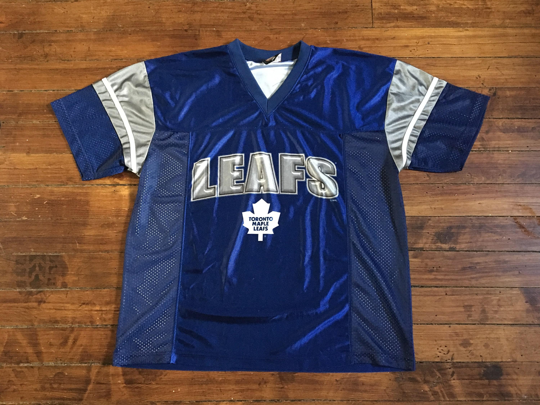 Toronto Maple Leafs mesh jersey vintage NHL hockey shirt blue  8647387cc