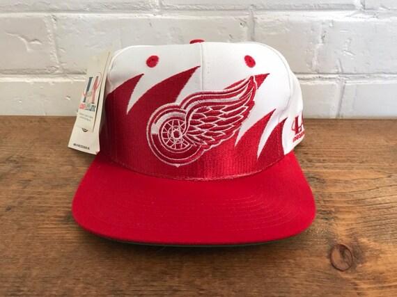Detroit Red wings sharktooth snapback hat vintage