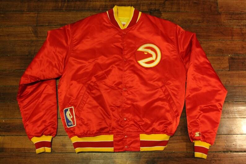 d4972795d Atlanta Hawks starter jacket vtg NBA basketball 1980s vintage