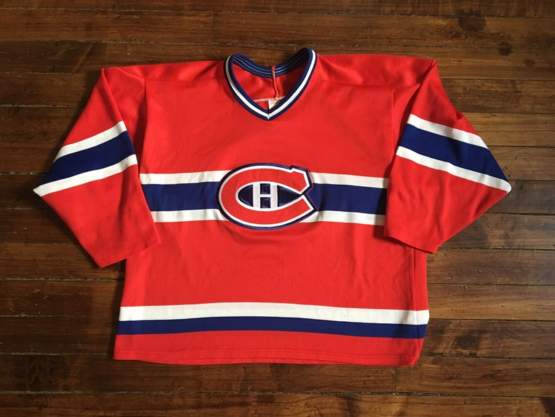73bf32635 Montreal Canadiens CCM hockey jersey red vintage 1980s NHL | Etsy