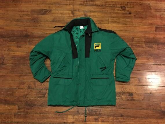 437260ff28 Fila Sport 90s winter jacket green black hip hop streetwear