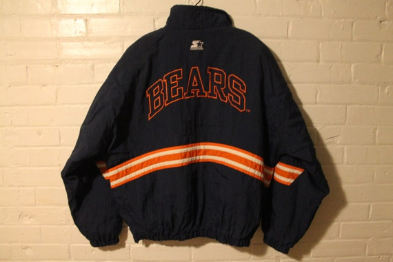 save off 27038 30ba3 Chicago Bears starter jacket vtg NFL football vintage pullover winter coat  Large