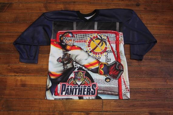 9a7900508 Florida Panthers jersey vtg NHL hockey mesh jersey CCM small
