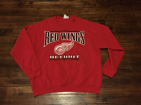 Detroit Red wings crewneck sweatshirt vintage NHL hockey  b1ac167a4