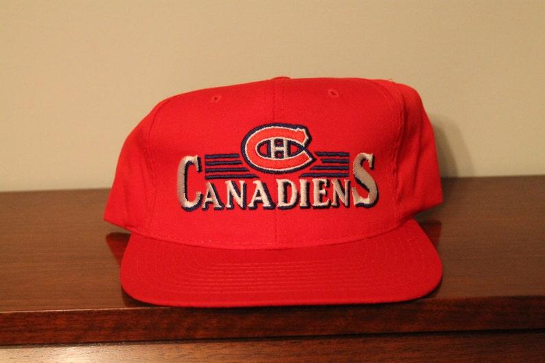 88fff211f3b001 Montreal Canadiens snapback hat vintage deadstock brand new | Etsy