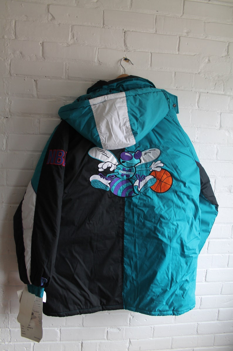 DEADSTOCK Charlotte Hornets winter jacket NBA basketball pro  4becada8c