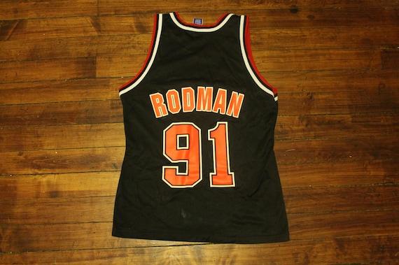 Chicago Bulls Jersey Champion 91 Dennis Rodman black bulls  4f7bdfb8f