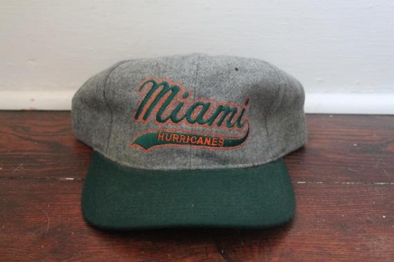 3eb179fc62722 Miami Hurricanes starter snapback hat heather script vintage