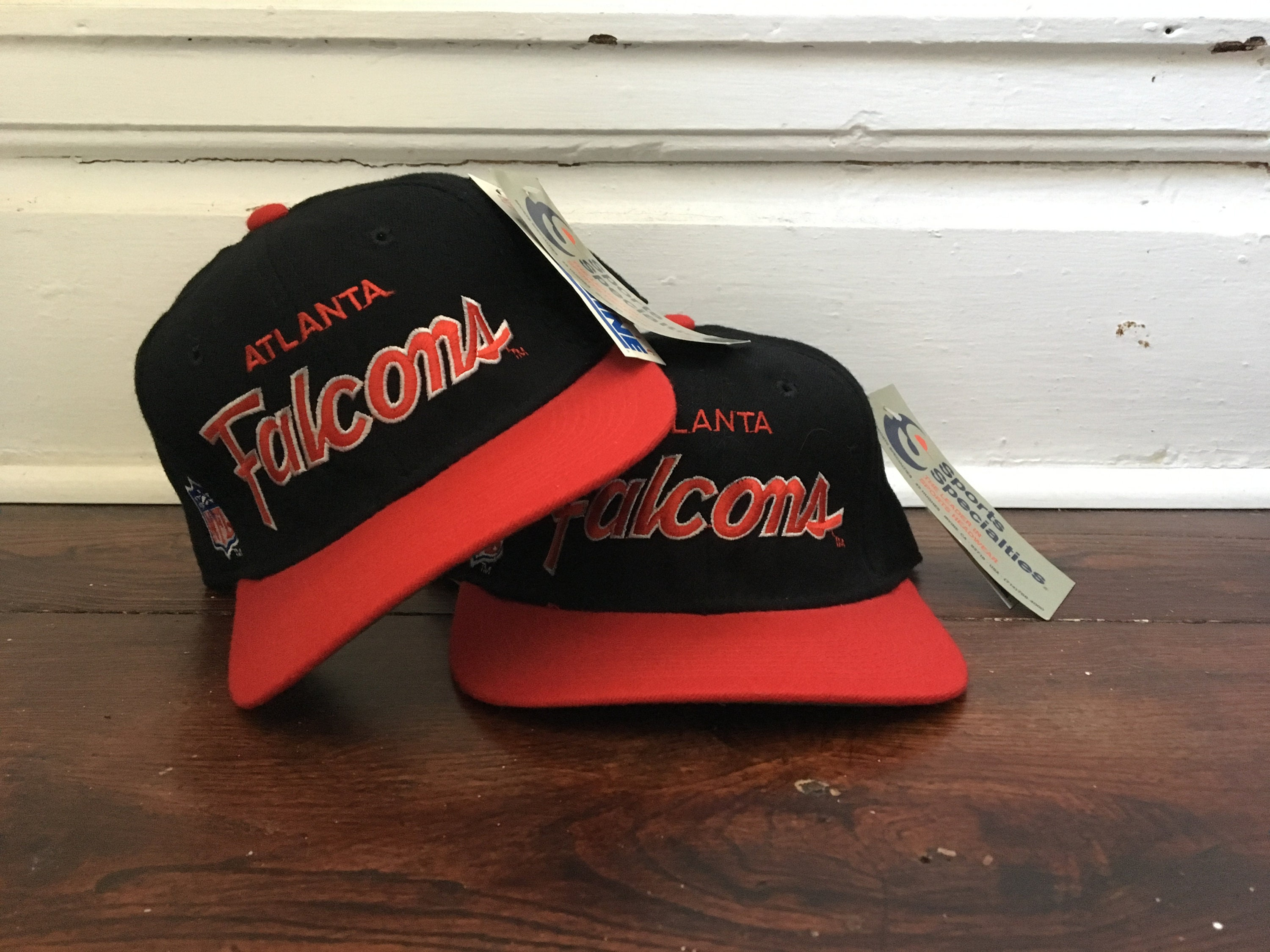 outlet store 1ce54 01068 DEADSTOCK Atlanta Falcons hat sports specialties script hat   Etsy