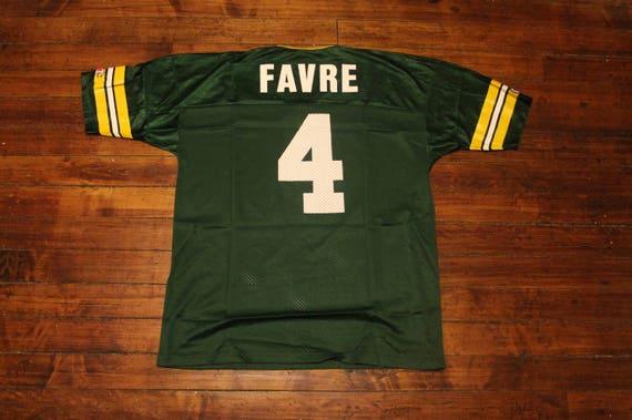 Green Bay Packers Jersey CHAMPION 4 Brett Favre NFL football Jersey 48 cf657c18b7d9