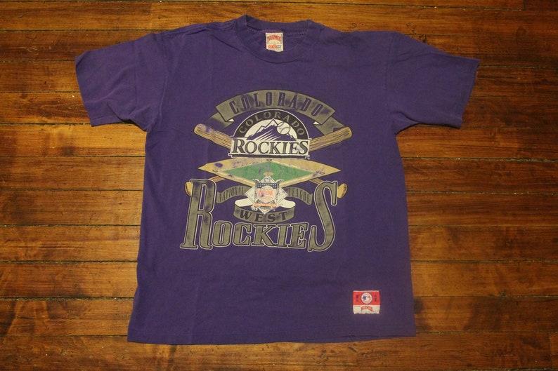 f94425ba9348c Colorado Rockies shirt vintage MLB baseball tshirt graphic tee