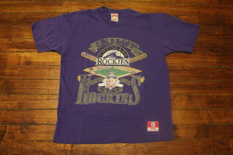 e93683f0aa73a Colorado Rockies shirt vintage MLB baseball tshirt graphic tee