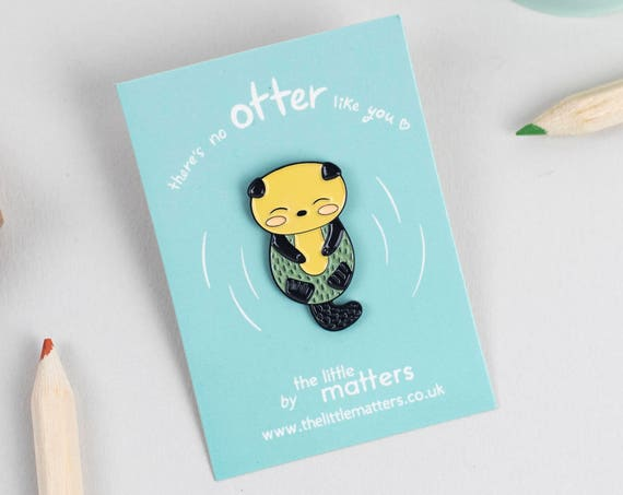 Otter Enamel Pin Badge