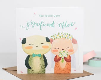 """You found your significant """"otter"""" Wedding Card"""