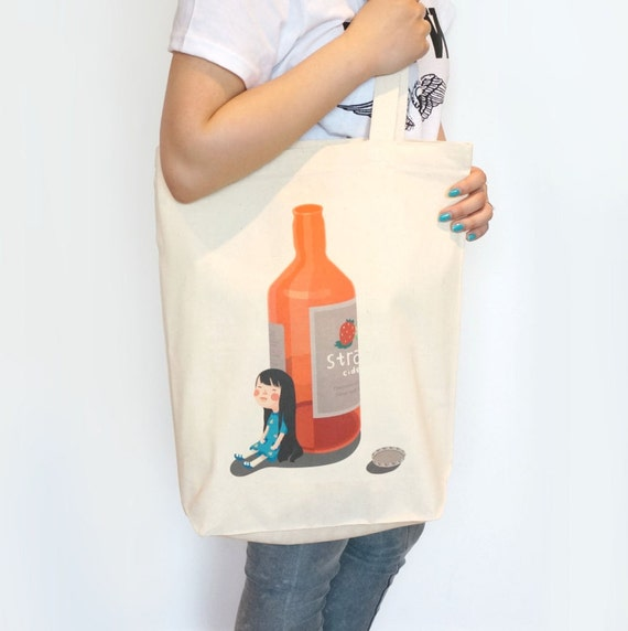 Illustrated Cider Tote Bag