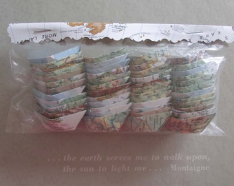 paper boat origami 48 boats decoration nautical theme ocean party maps atlas