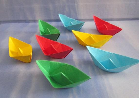 Papier Voilier Origami Decoration Fete Table Faveur Beaucoup Etsy