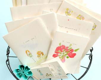 watercolor handmade greeting cards everyday designs