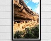 Mesa Verde National Park 1 Pop Art Print Nature Adobe Native Desert Poster Arizona Landscape American United States Travel Home Decor Canvas