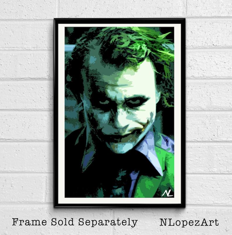 28acdf73e2ff5 Joker Heath Ledger Pop Art Illustration The Dark Knight | Etsy