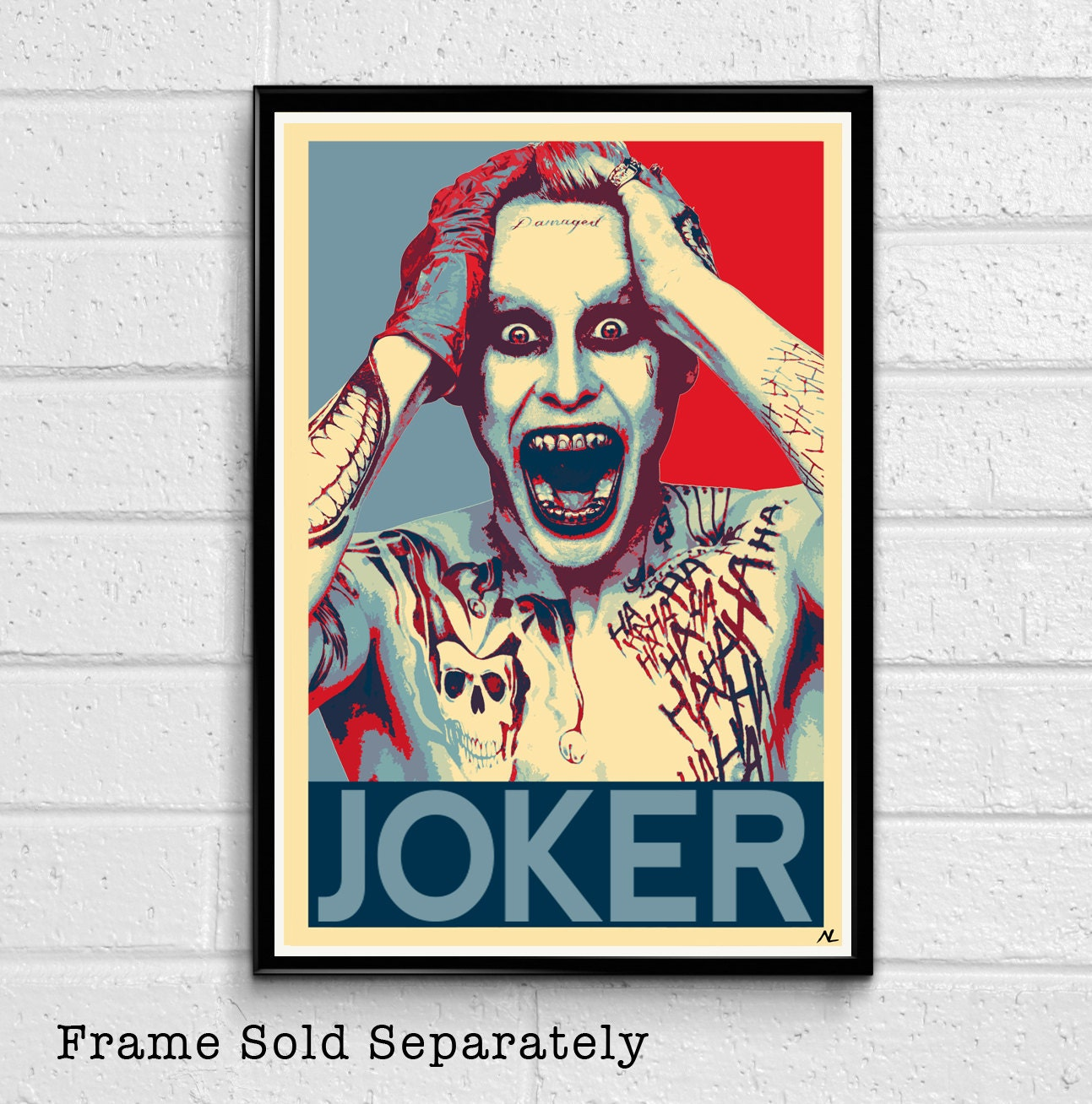 Suicide Squad Joker Poster Jared Leto Large Quality FREE P+P CHOOSE YOUR SIZE!