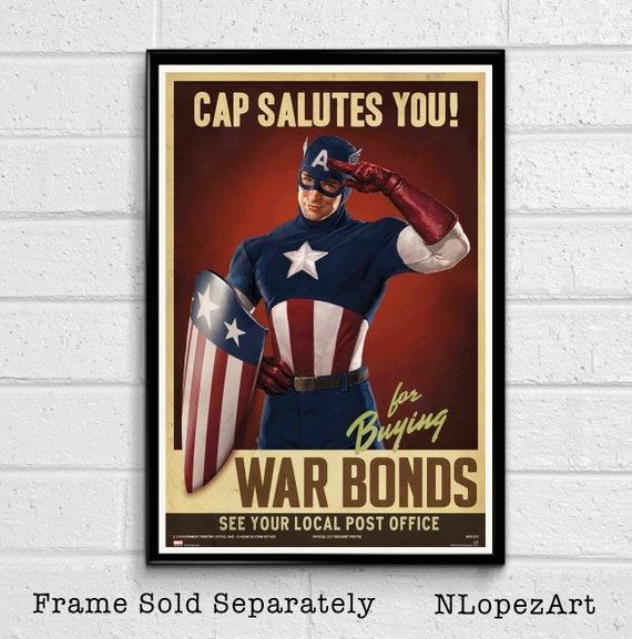 Captain America 2 BRAND NEW Posters Marvel comics WW2 Avengers kids room mancave