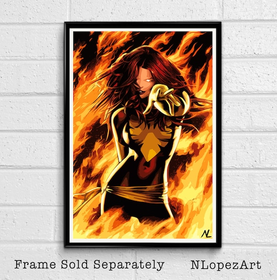 MARVEL COMICS X-MEN Jean Grey Dark Phoenix POSTER PIN UP