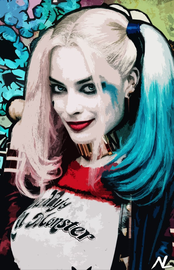 Jared Leto Harley Quinn DC Comic 100/% Cotton Wall Art Print Suicide Squad Joker