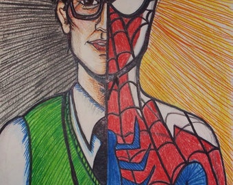 What a tangled web we weave (Spider-Man a la Andrew Garfield ---- Fan Art Illustration Print Spiderman)