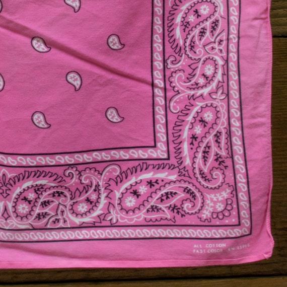 Vintage Bubblegum Pink Bandana - image 2