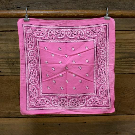 Vintage Bubblegum Pink Bandana - image 1