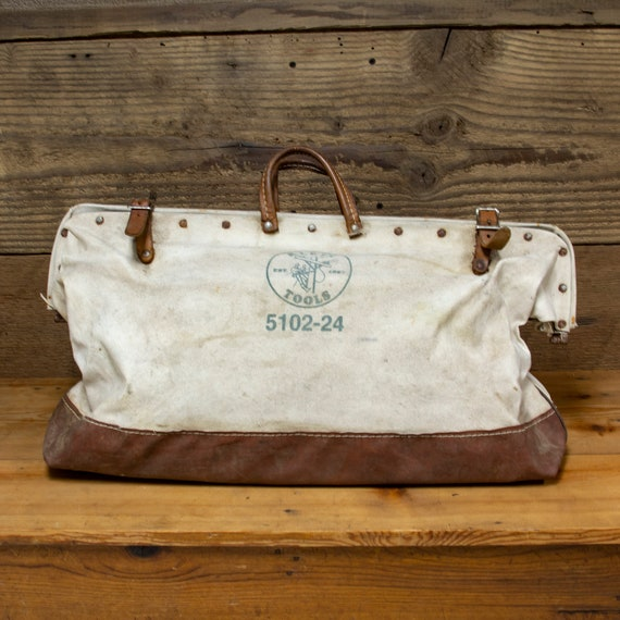 Vintage Canvas Tool Bag