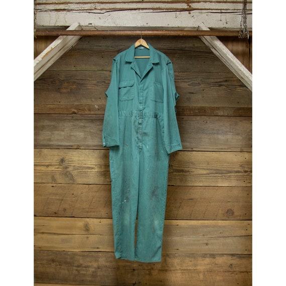 Vintage Green Montgomery Ward Coveralls