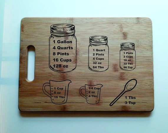 Bamboo Cutting Board 9x5, Wedding gift, Anniversary gift, Everyday gift, Personalized Gift