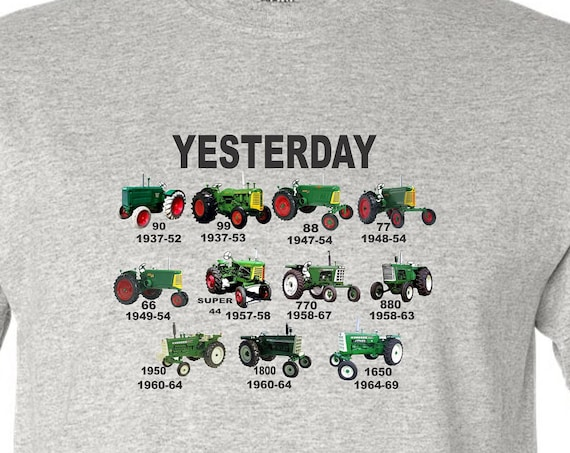 kids tractor shirt, Green tractor shirt, Oliver shirt, yesterday shirt, kids shirt, vintage tractor shirt,
