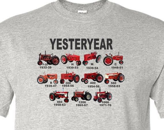 kids tractor shirt, red tractor shirt, farmall shirt, yesterday shirt, kids shirt, vintage tractor shirt,