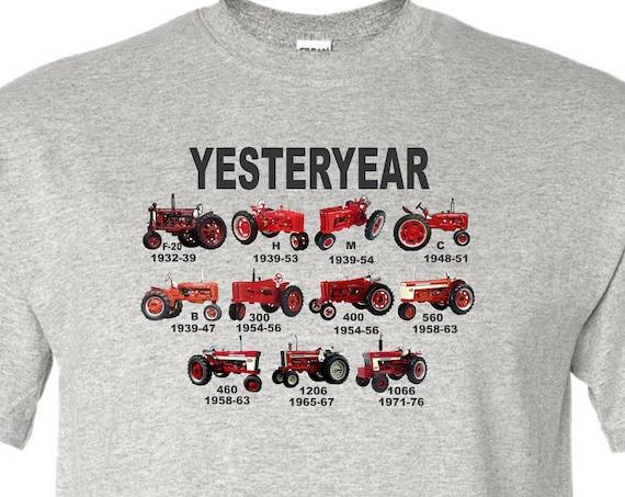 kids tractor shirt, red tractor shirt, farmall shirt, yesterday shirt, kids shirt, vintage tractor shirt,